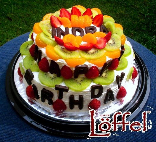 Astonishing Fresh Fruit Birthday Cake Dapur Loffel Flickr Funny Birthday Cards Online Overcheapnameinfo