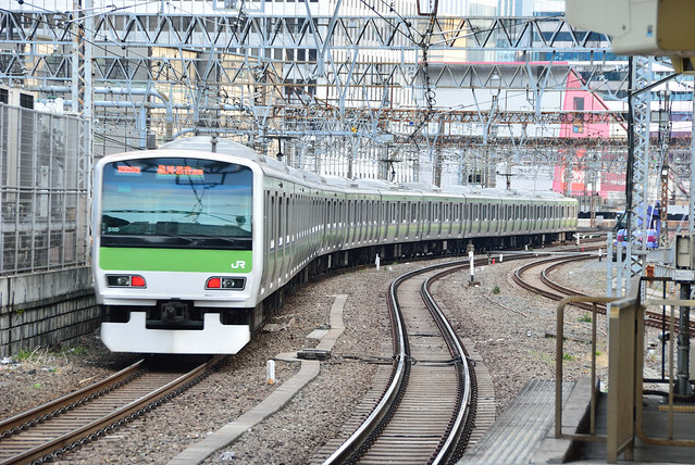 JR Yamanote Line E231 Series Train Leaving Tokyo Station