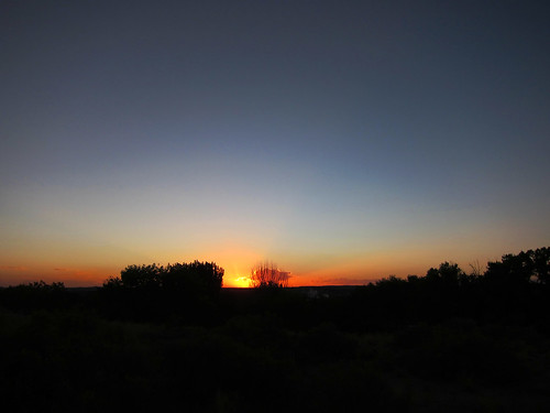 sunset newmexico silhouette landscape aztec americanwest fourcourners