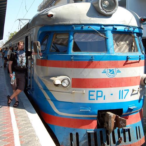 Vlak na nádraží v Sevastopolu
