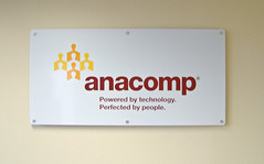 Composite panel office sign