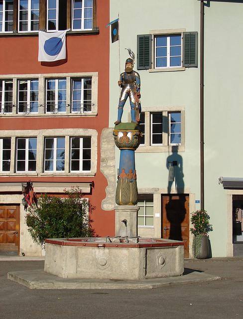 Chlausbrunnen auf dem Metzgplatz