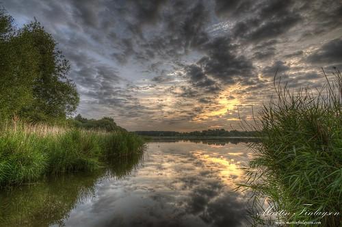 reflection water clouds sunrise reeds mirror pond nikon gimp tamron hdr d300 frensham photomatix 1024mm
