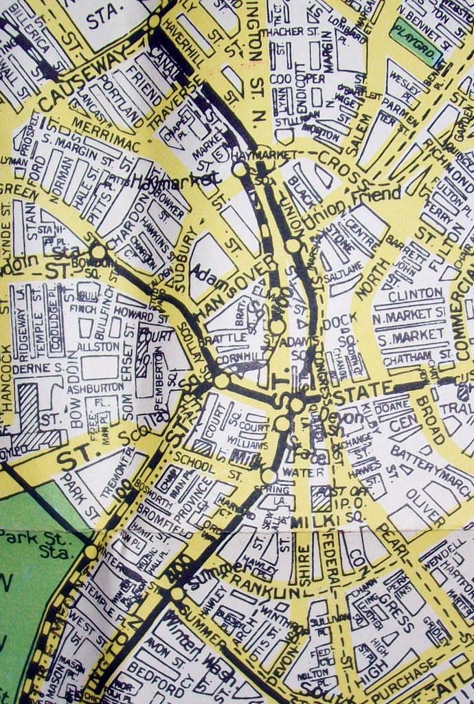Downtown Boston MA mid 1940s | Map by Geographia Maps, WW2-e ...