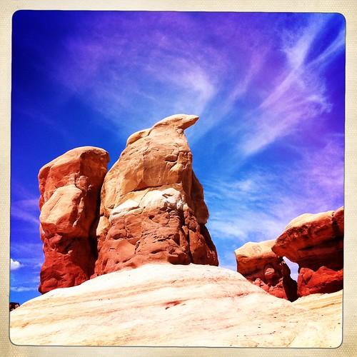 sky monument clouds utah sandstone escalante glencanyon redstone devilsgarden hipstamatic inas1969film lucifervilens cloudsstormssunsetssunrises