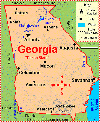 Georgia Map This Is A Map Of Georgia Don T Forget To Use