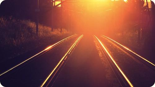light sunset sunlight sunshine train golden switzerland glow shine trails