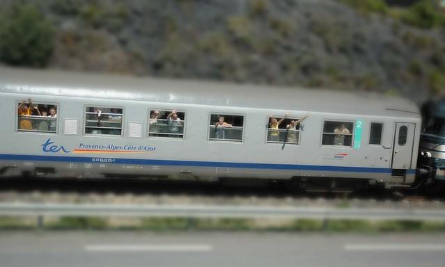 My mini train with mini people...