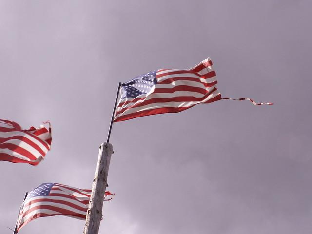 damaged flags