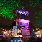 Albert in the evenings | Albert all a-glow in the Gardens during a summer night at the Book Festival © Alan McCredie