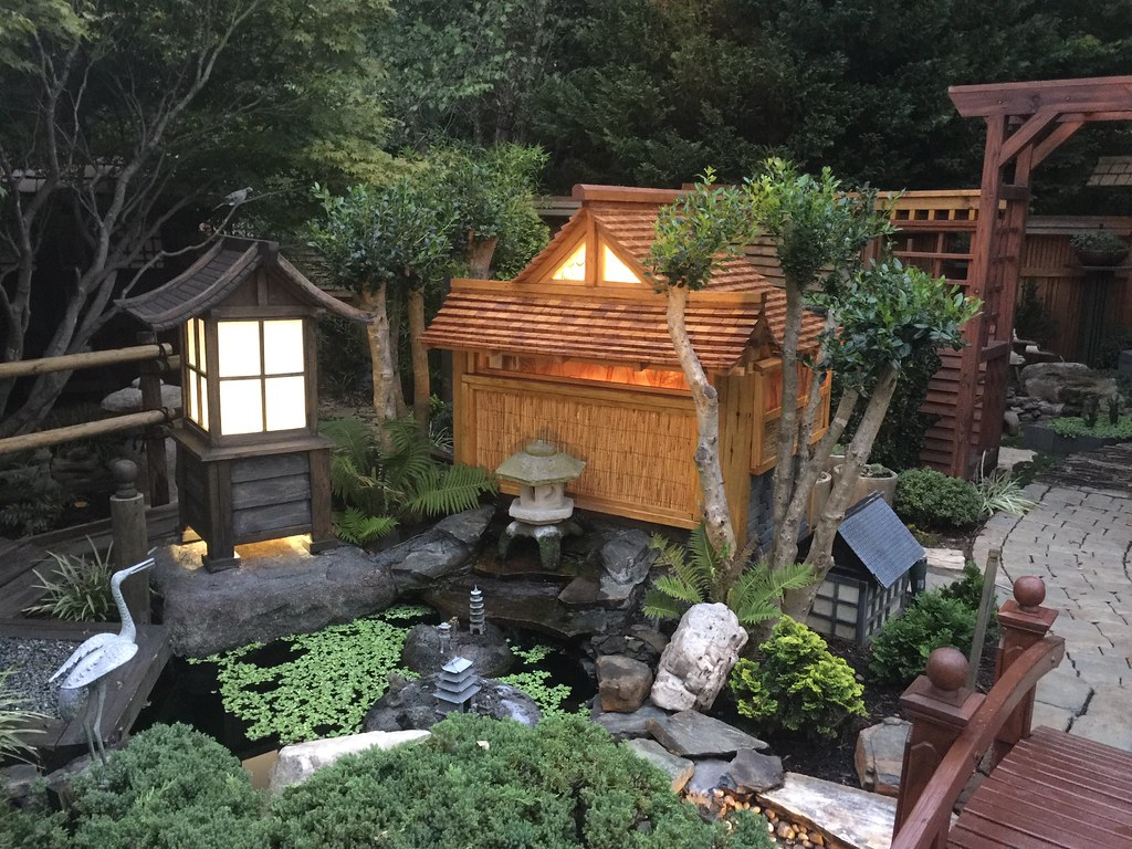 Japanese Garden At Night Ken Flickr