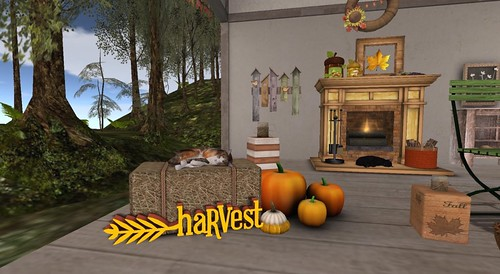 The Mustard Seed: Sleeping Cat Haybale | by Hidden Gems in Second Life (Interior Designer)