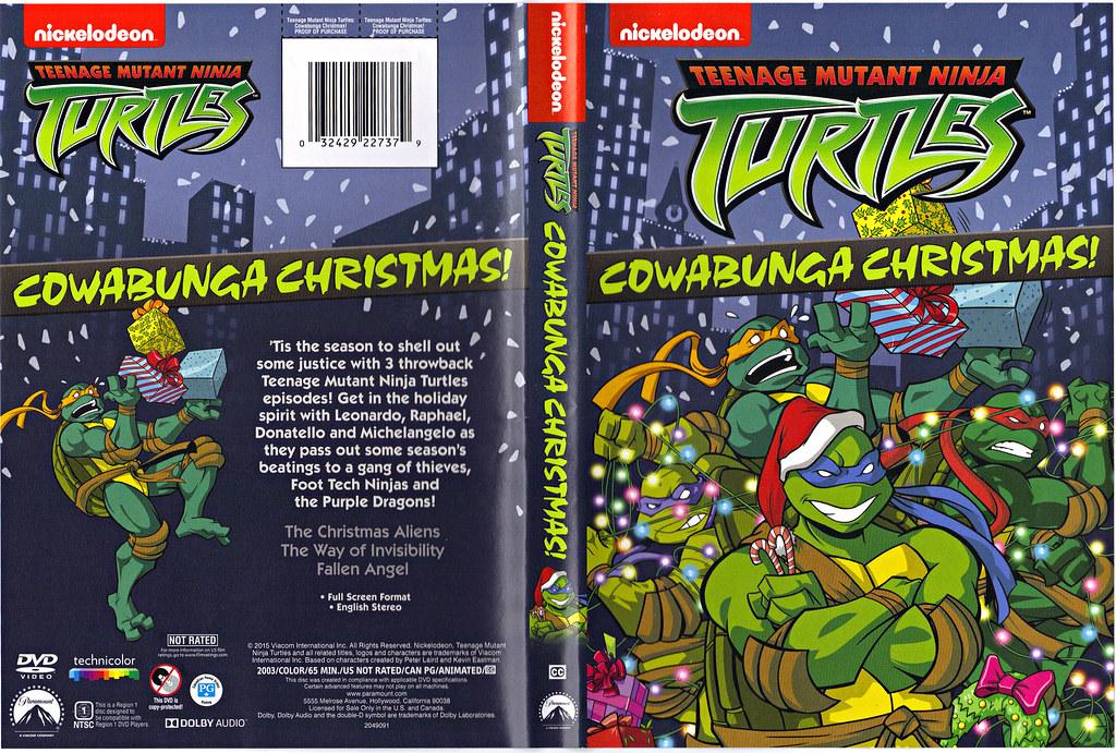 "TEENAGE MUTANT NINJA TURTLES :: COWABUNGA CHRISTMAS!"" // DVD wrap-around cover (( 2015 )) by tOkKa"
