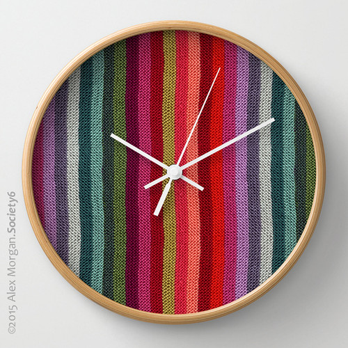 Get Knitted.wall clock