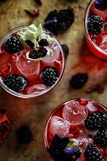Blackberry Pomegranate Ginger Moscow Mule from HeatherChristo.com | by Heather Christo