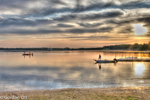 park reflection water clouds sunrise boats newjersey fishing dock vibrant nj monmouthcounty hdr manasqaunreservoir