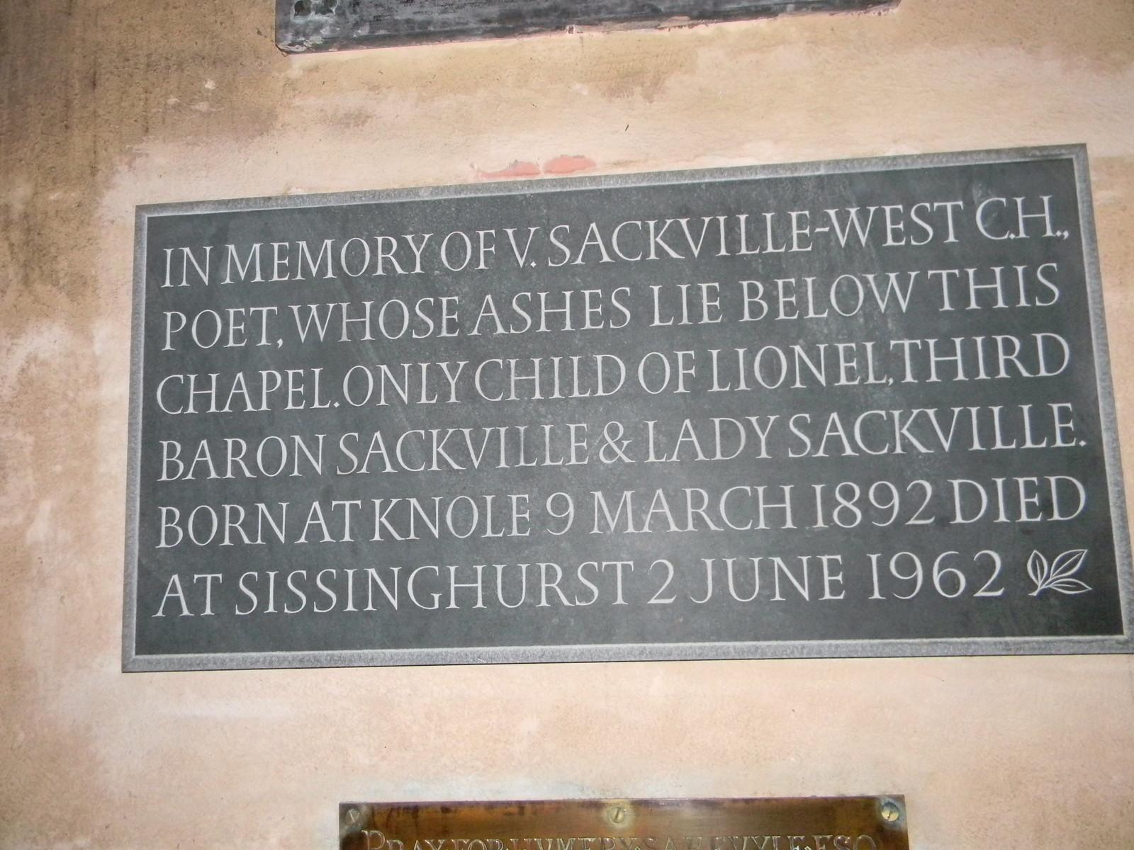 Memorial to Vita Sackville-West, Withyam Church Ashurst Circular