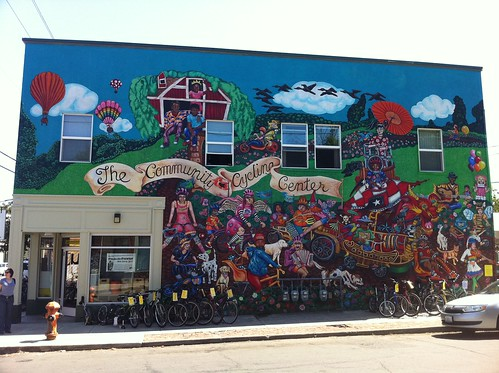 Stunning mural outside Portland's Community Cycle Center | by Francis Storr