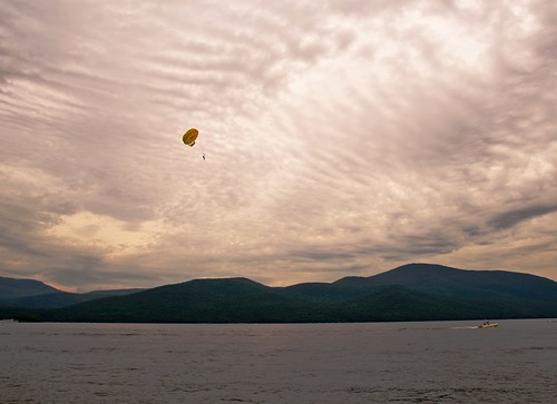 lake mountains water clouds skyscape landscape boat cloudy lakegeorge parasail sigma1770os