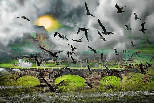 sunset sun castle water birds rock canon ruins dramatic fantasy missouri canoneosdigitalrebelxsi dragondaggeraward bestcapturesaoi magicunicornverybest magicunicornmasterpiece jackaloha2 mygearandme photoshopcs5 mygearandmepremium mygearandmebronze sbfgrandmaster hahatonkin
