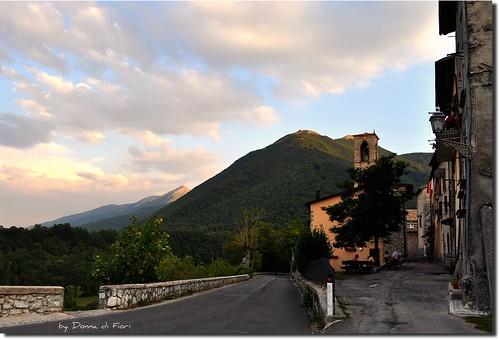 sunset italy panorama mountain landscape tramonto 1001nights lazio rieti leonessa 1001nightsmagiccity viadelcampanile agosto2011