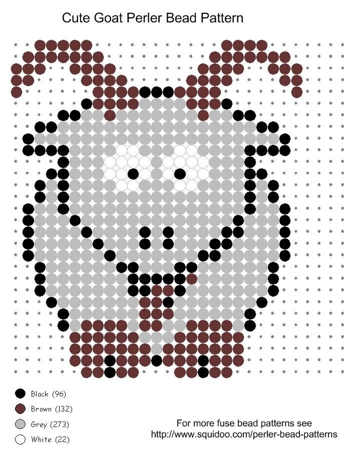 Cute goat perler bead pattern | Cute goat perler bead patter