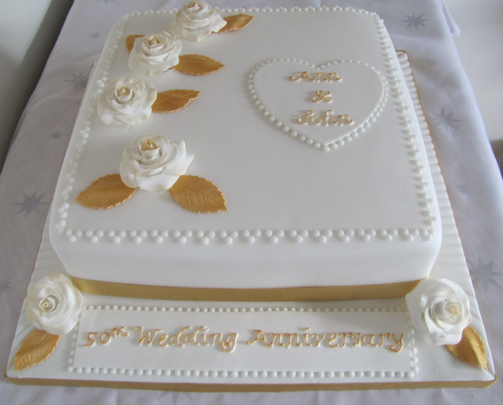 50th Wedding Anniversary Cakes.50th Wedding Anniversary Cake 10 Vanilla Sponge Decorated Flickr