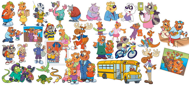 Character style sheet from Herbie Bear