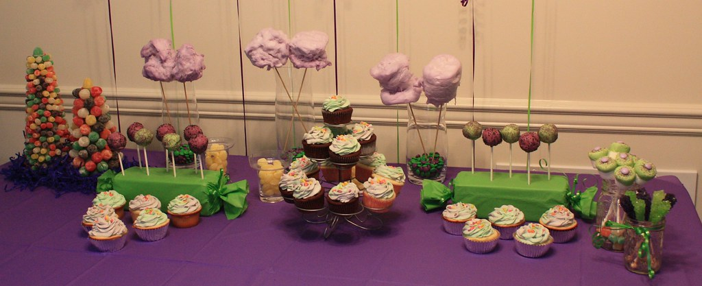 Barney inspired Dessert Table | If all of the raindrops were