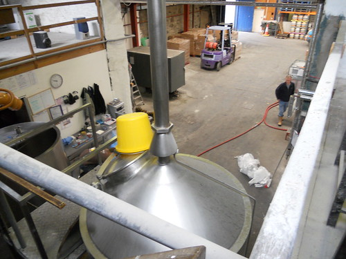 A birds eye view within the Purple Moose Brewery