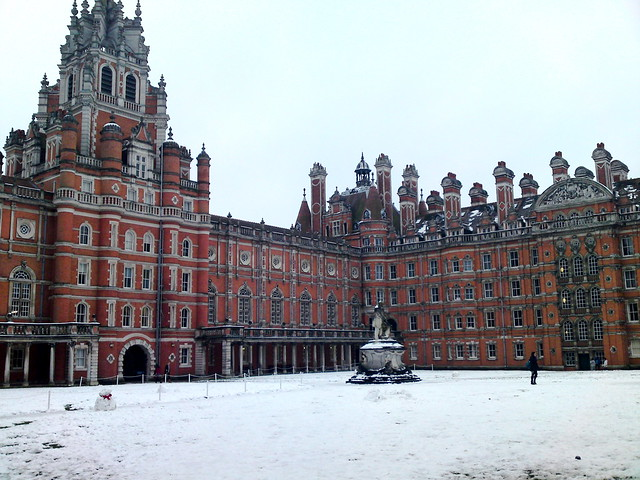 Royal Holloway in snow