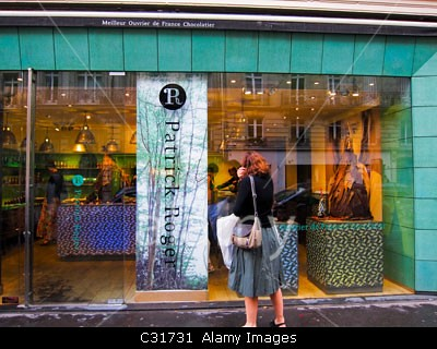 Paris, France, People Shopping, French Chocolate Shops in