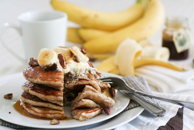 Banana Buttermilk Pancakes-28
