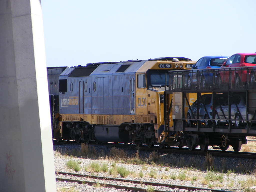Pacific National DL50 and NR28 Mawson Interchange 28.02.10 by Andy Cole