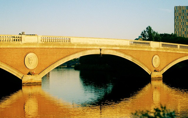 John W. Weeks Footbridge. Golden hour. Cambridge, MA