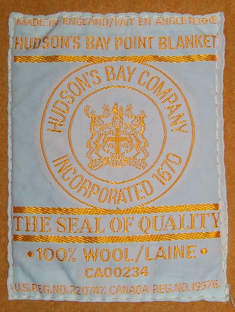 Hudson S Bay Point Blanket Label En Wikipedia Org Wiki
