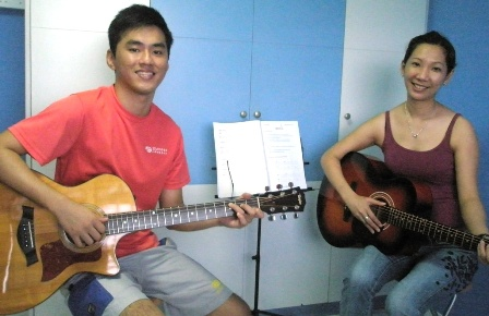 Adult guitar lessons Singapore Merry