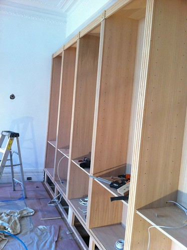Bookcase face frames are going on | by johnclarkemills