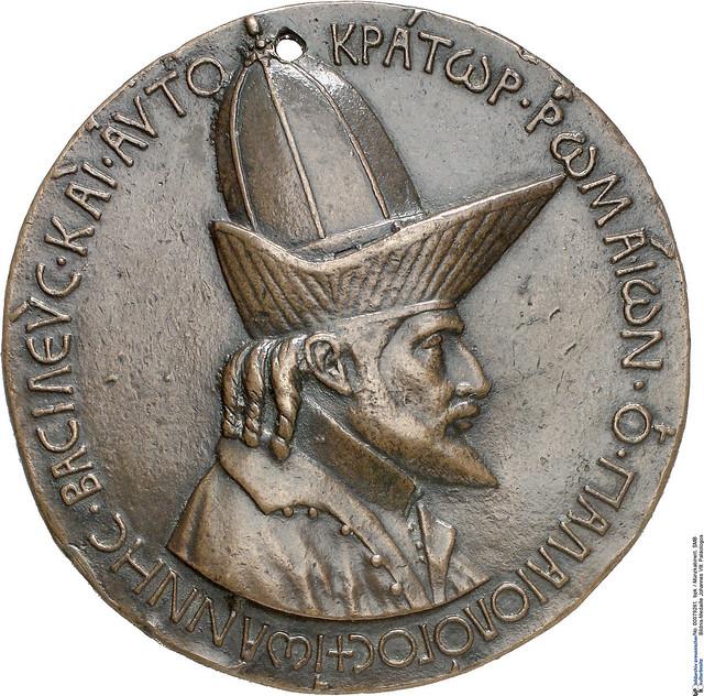 Pisanello - Medal with John VIII. Paleologos (1438-39)