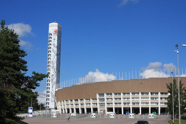 Los anillos olímpicos en Helsinki