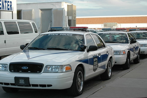 Indiana State Police on patrol.