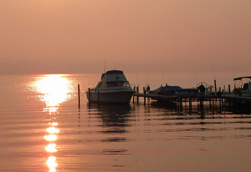 lake water sunrise boats nikon chautauqua