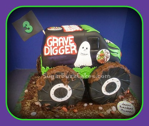 Fine Grave Digger Monster Truck Birthday Cake A Photo On Flickriver Funny Birthday Cards Online Elaedamsfinfo