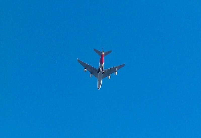Plane over Footscray