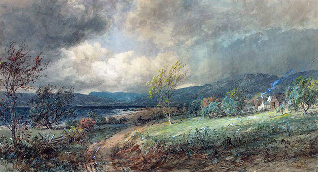 """Storm Across the Hudson"" by Jasper Francis Cropsey"