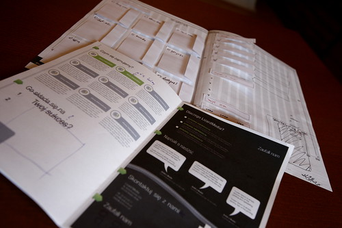 Leaflet paper wireframe | by Lizard Media