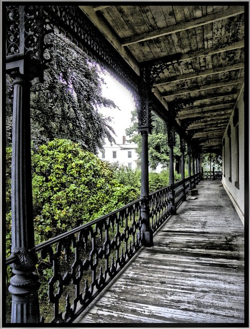 During a Rain Storm~ Parrott Hall ~ Geneva NY ~ Balcony
