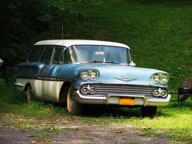 A 1958 CHEVY BROOKWOOD IN AUG 2011