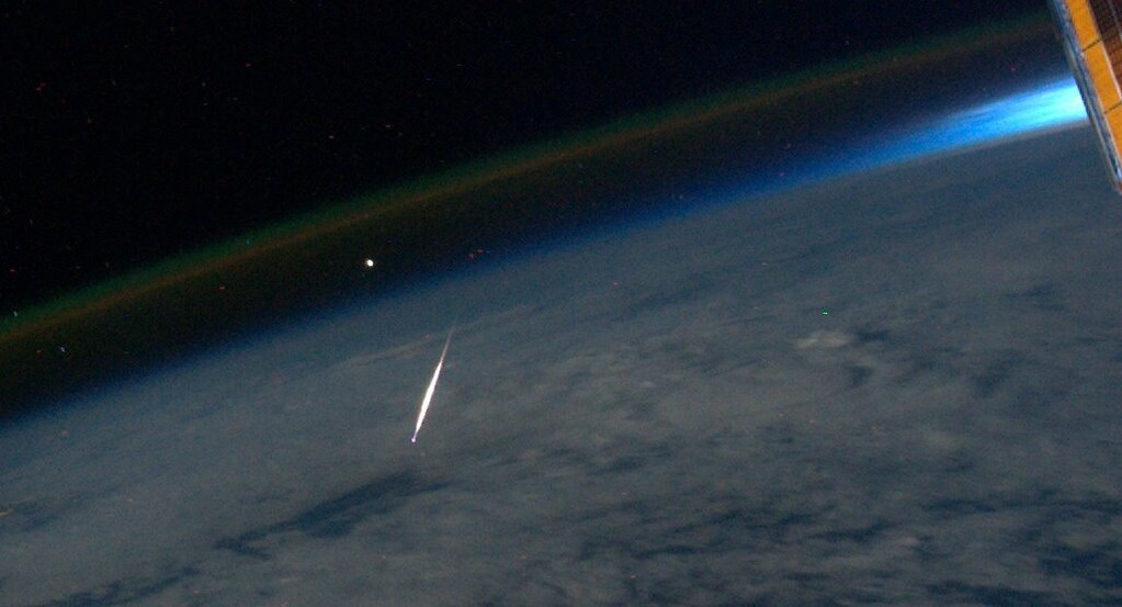 Perseid Meteor Seen From Space (NASA, International Space Station, 8/13/11)
