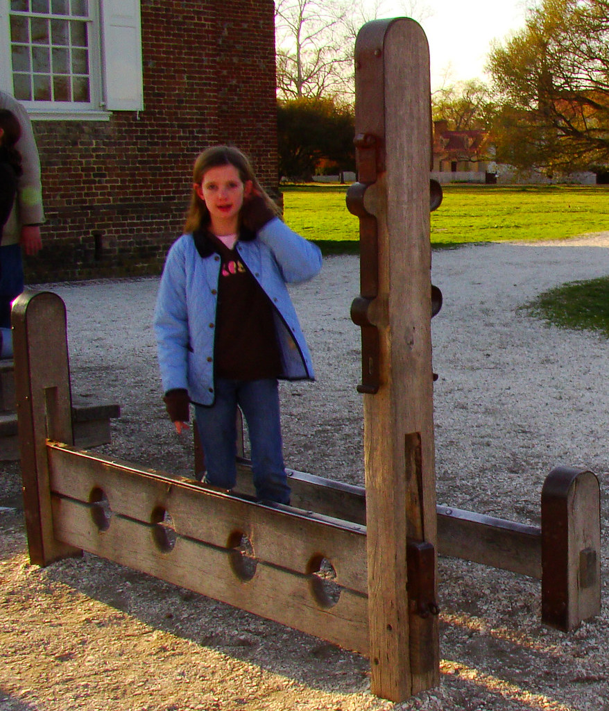 Colonial Williamsburg Stocks And Whipping Post